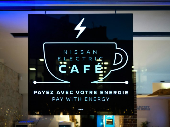 Nissan Electric Café στο Παρίσι