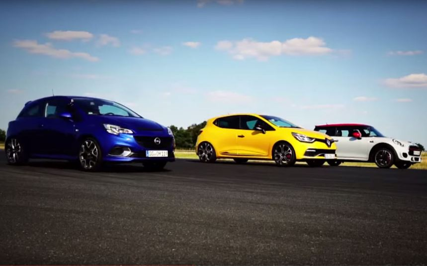 Drag Race : Clio RS Trophy VS Mini JCW VS Corsa OPC